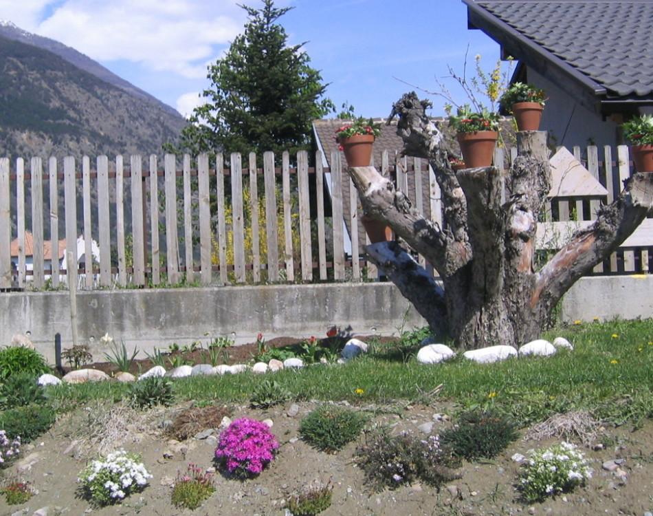 Blumendeko in unserem Garten