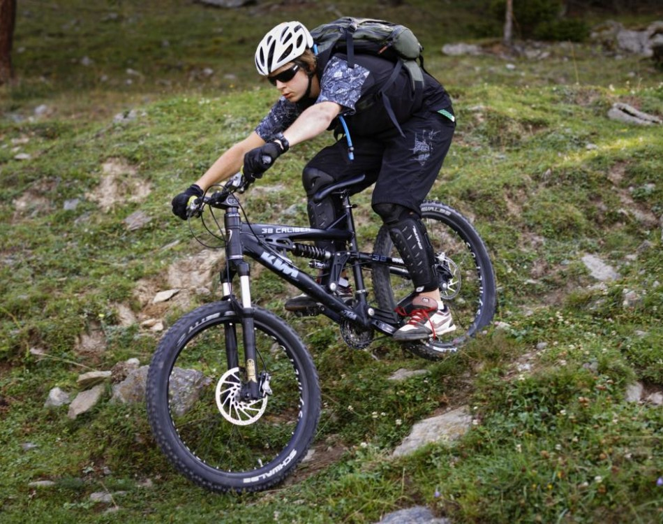 Mountain bike a Laces in Val Venosta