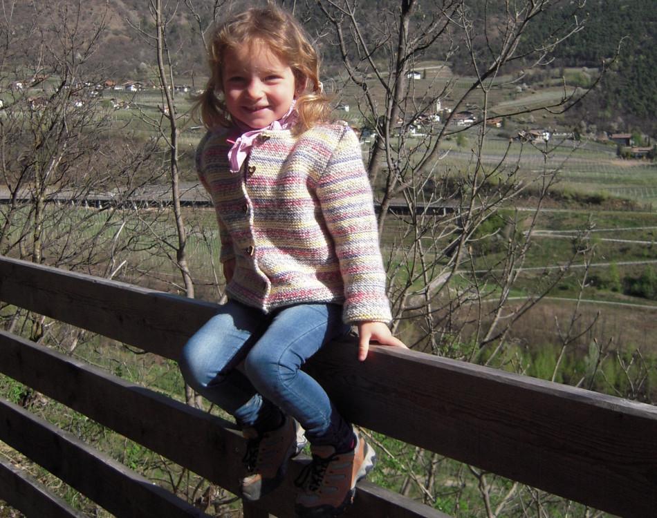 Unsere Tochter beim Wandern