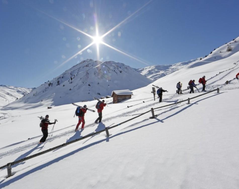 Rojental Skitourengeher