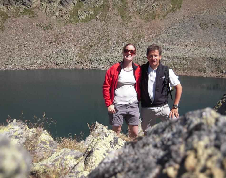 Michaela e Josef in montagna