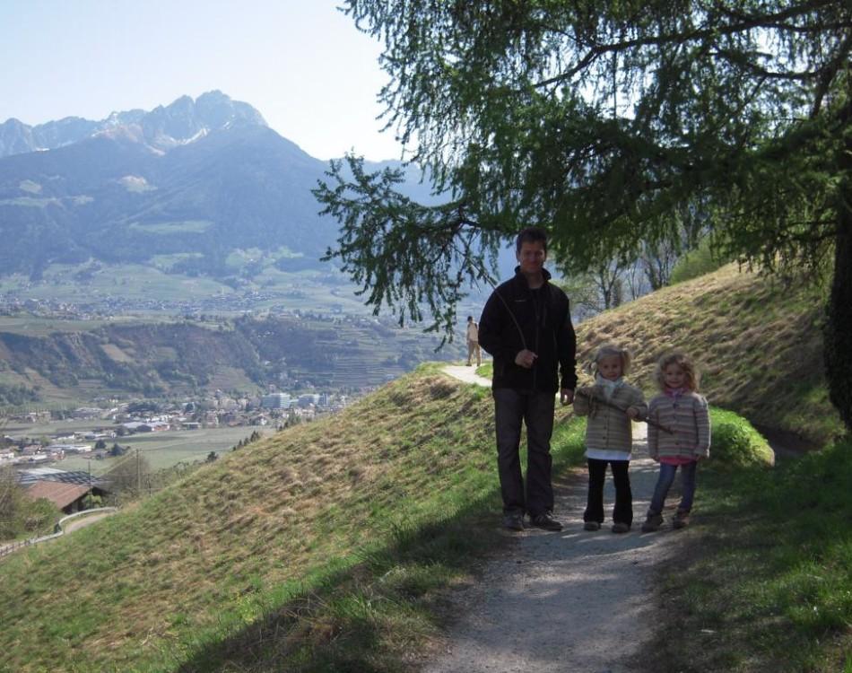 Camminata in famiglia